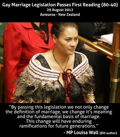 MP Louisa Wahl, author of New Zealand's gay marriage bill.