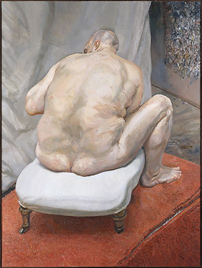 Naked Man, Back View (1991-1992) by Lucian Freud