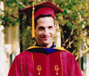 The newly conferred Dr. Fox circa 2003