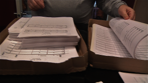 Orchestration copies for 44 minutes of original score by Ronit Kirchman for THE SKIN I'M IN