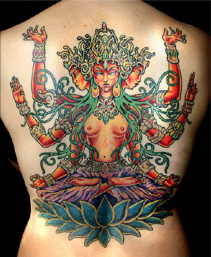 Goddess of FIre Tattoo, Courtesy of Zulu Tattoo 2008