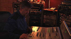 Owner and operator Michael Greene mans the board at Rotosonic Sound