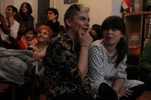 Saturday, Nov. 17 Screening Party of THE SKIN I'M IN at AJZ Space in Yerevan, Armenia. . Organized by The Screenery, PINK Armenia NGO, Queering Yerevan collective, AJZ, and moderated by Anahid Yahijan